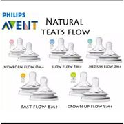Philips Avent Natural Feeding Nipple / Teat / Dot Fast Flow 9m + 6m + 3m + Contents 1
