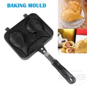 Taiyaki Fish Shape Cake Maker Waffle Pan Mold Cast with 2 Sided Home Cooking Bakeware Tool