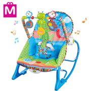 Mitoyos Infant to Toddler Auto Rocker Baby Fast Sleep Music Bouncer Automatic Swing Chair Blue
