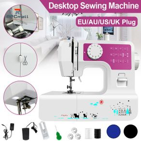 Mini 12 Stitches Sewing Machine Household Double Thread Crafting Mending Machine