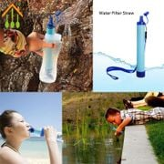 limad Outdoor Water Purifier Camping Hiking Emergency Life Survival Portable Purifier Water Filter